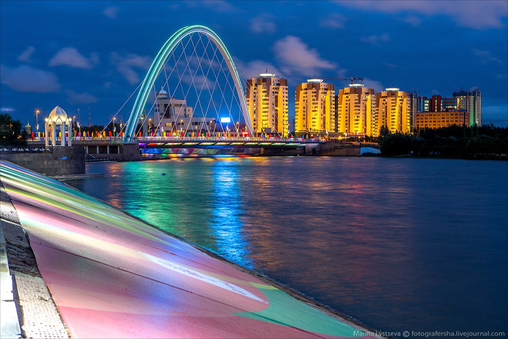 Night Astana: Urban landscapes of the capital of Kazakhstan - 33