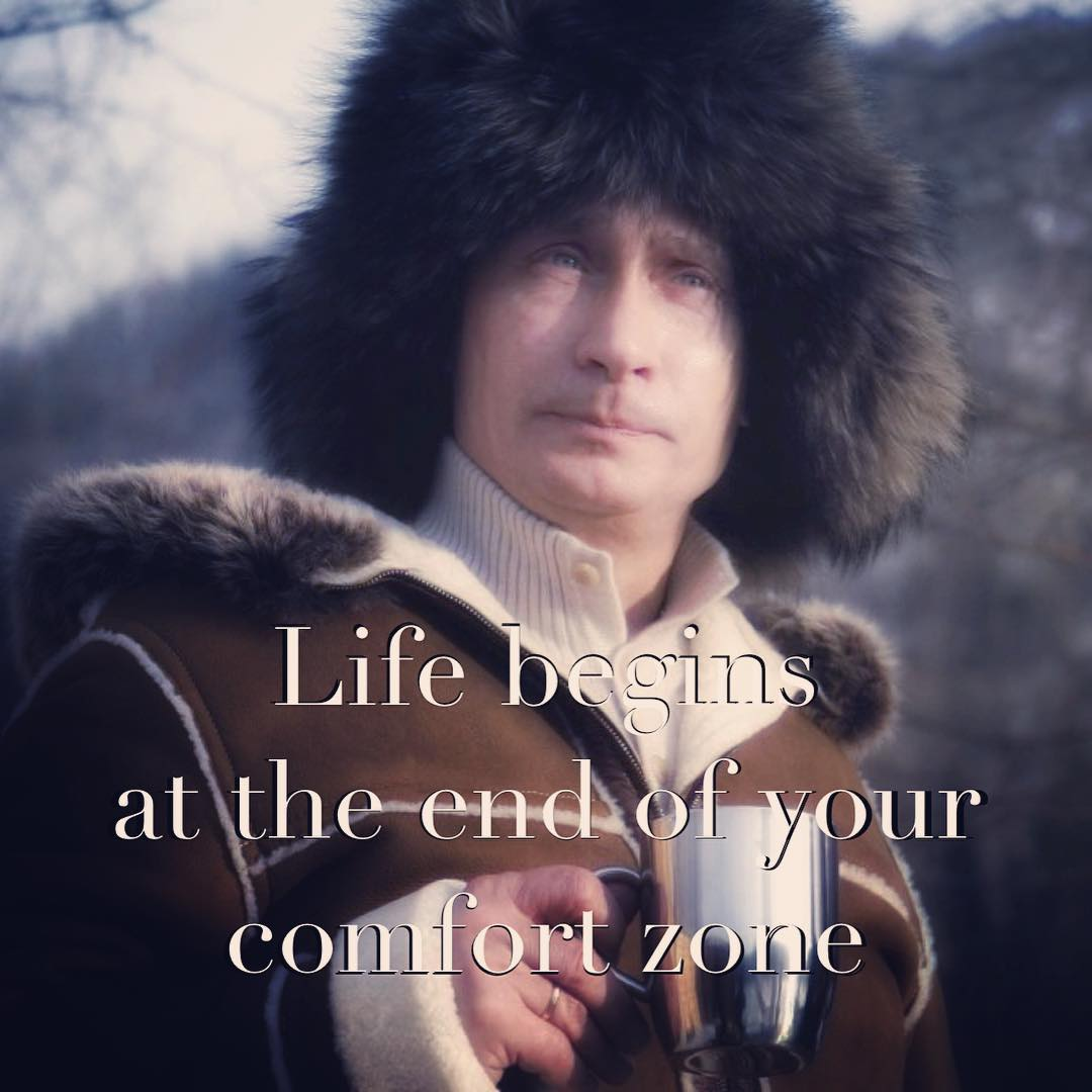 Putinspiration: sarcastic motivational pictures with Putin - 16