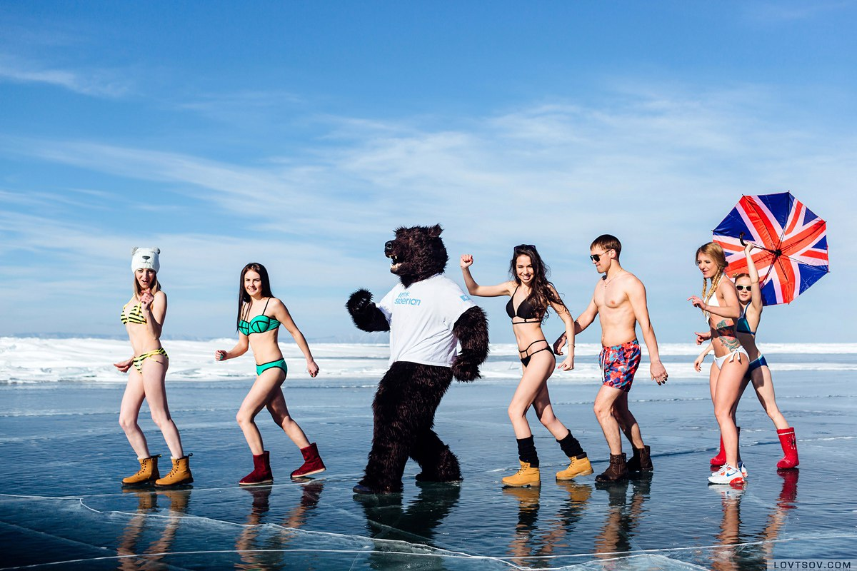 White beaches of Siberia: Frosty party on the lake Baikal - 1
