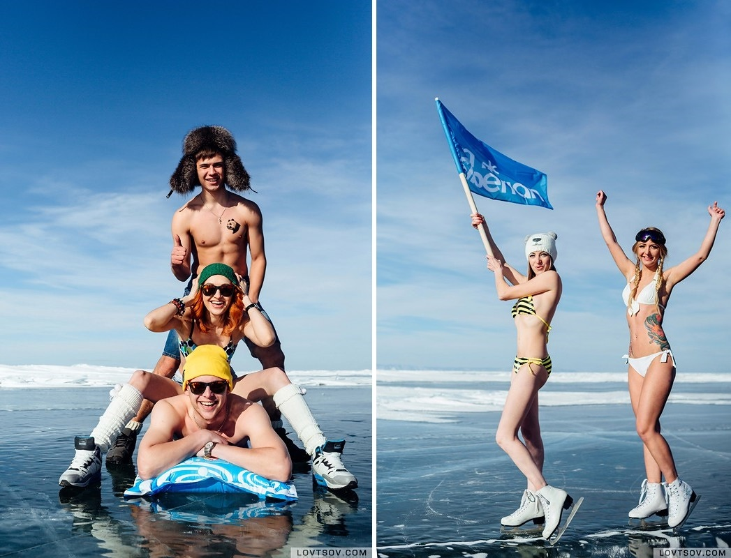 White beaches of Siberia: Frosty party on the lake Baikal - 16
