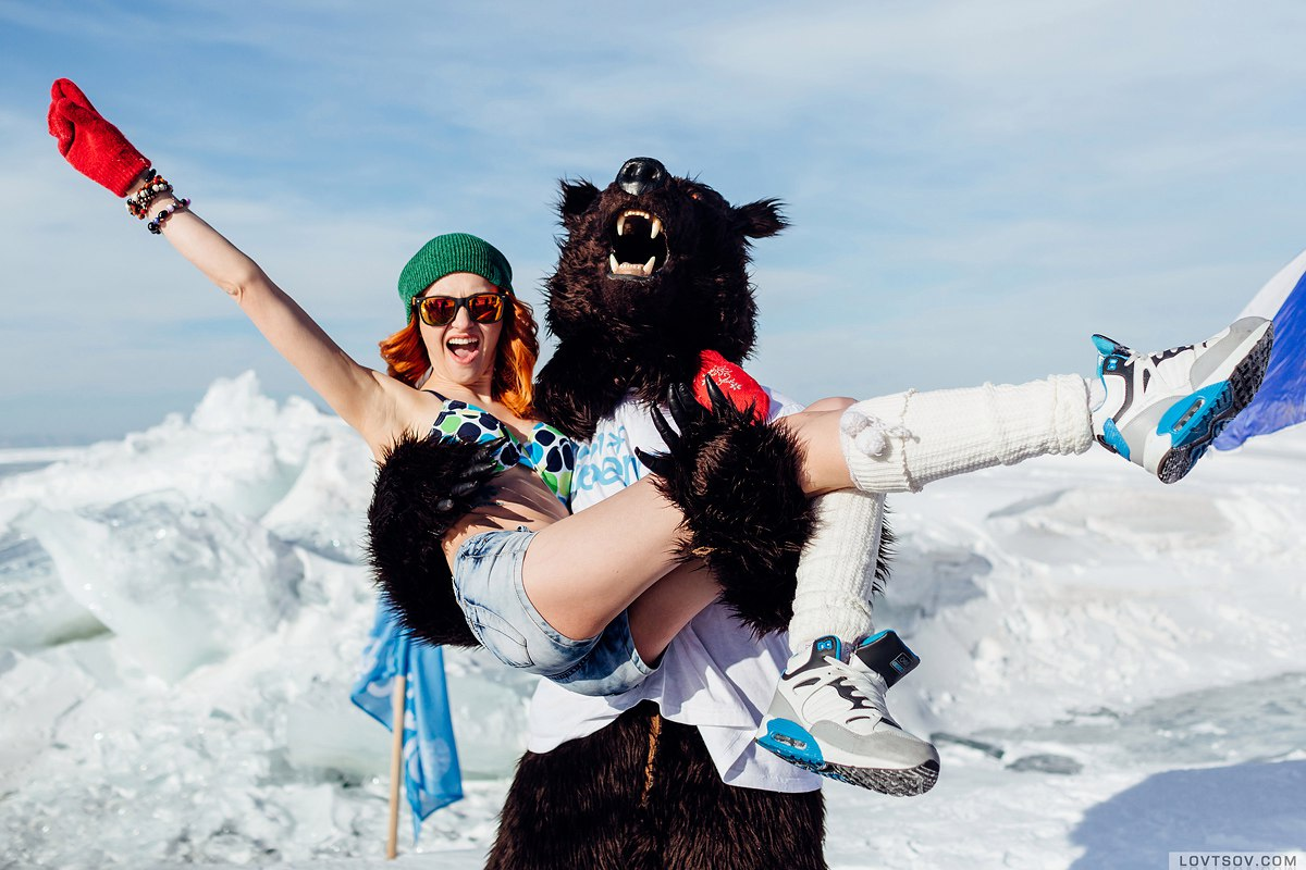 White beaches of Siberia: Frosty party on the lake Baikal - 29