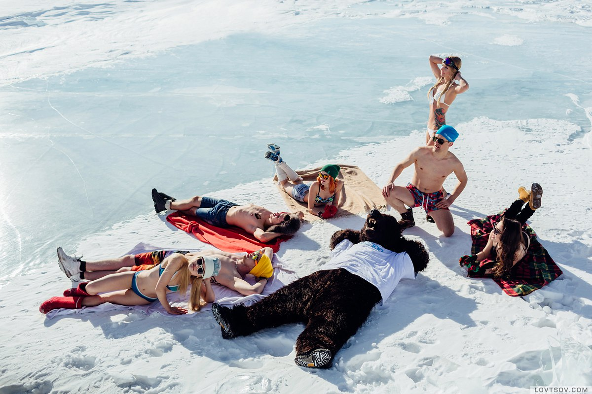 White beaches of Siberia: Frosty party on the lake Baikal - 30