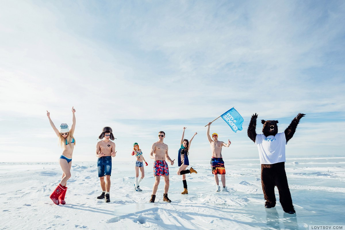 White beaches of Siberia: Frosty party on the lake Baikal - 38