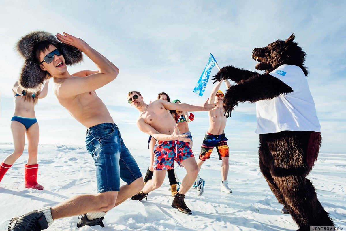White beaches of Siberia: Frosty party on the lake Baikal - 39