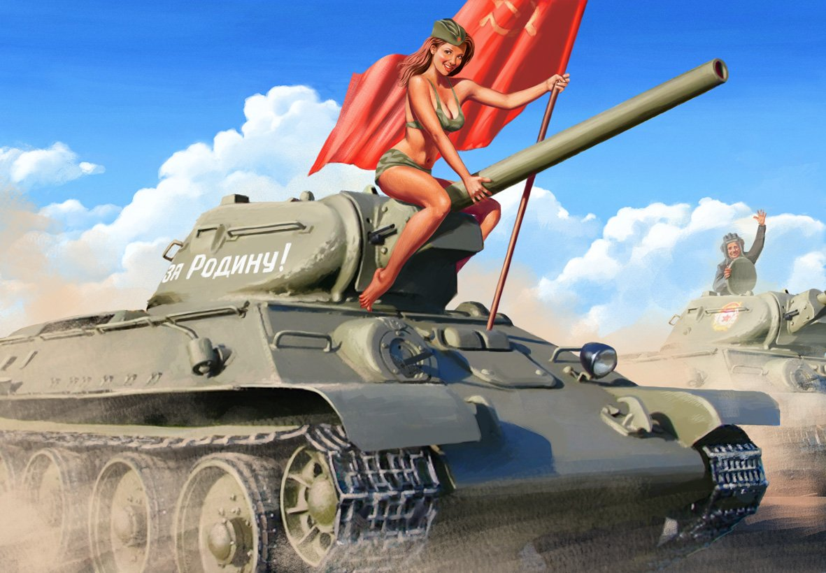 Pictures and Soviet posters in Pin-Up style by Valery Barykin - 27