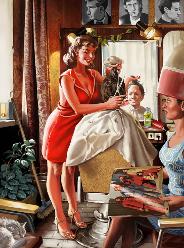 Pictures and Soviet posters in Pin-Up style by Valery Barykin - 7