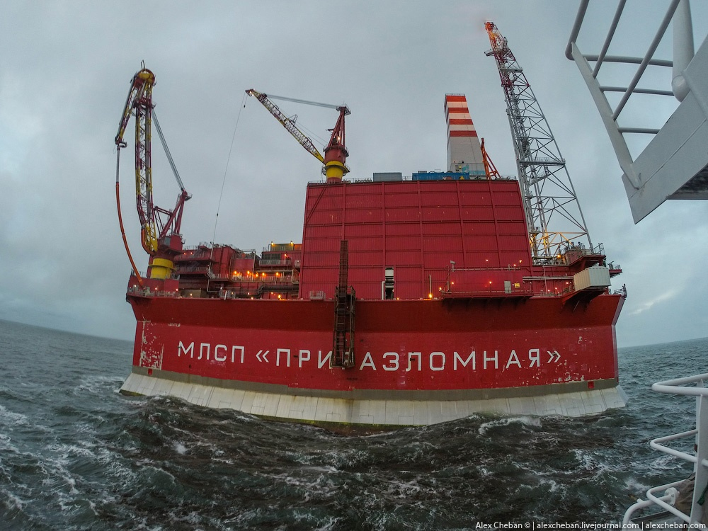 Russian ice-resistant oil platform Prirazlomnaya in the Arctic - 14