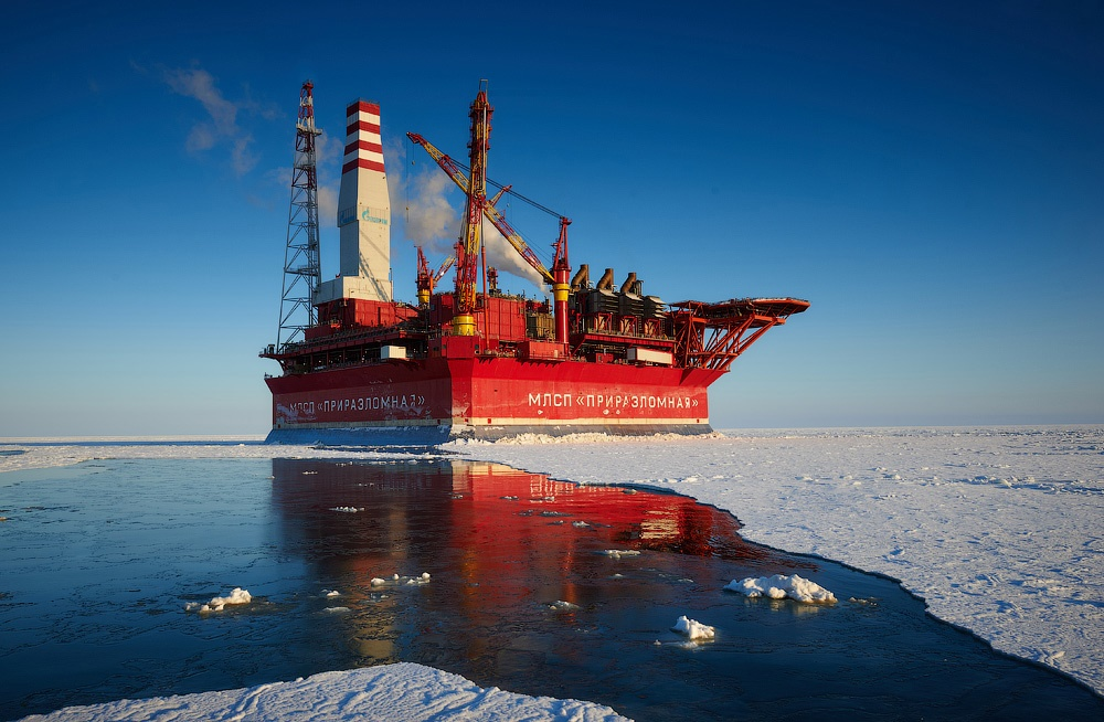 Russian ice-resistant oil platform Prirazlomnaya in the Arctic - 20