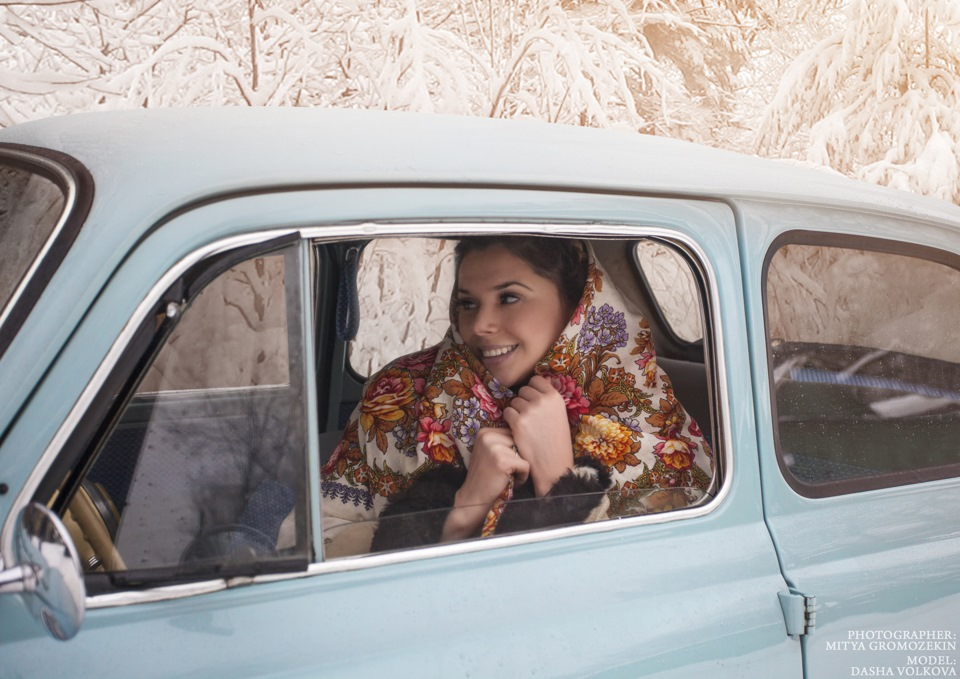 Photo-shoots with Russian beauties and Soviet cars - 1