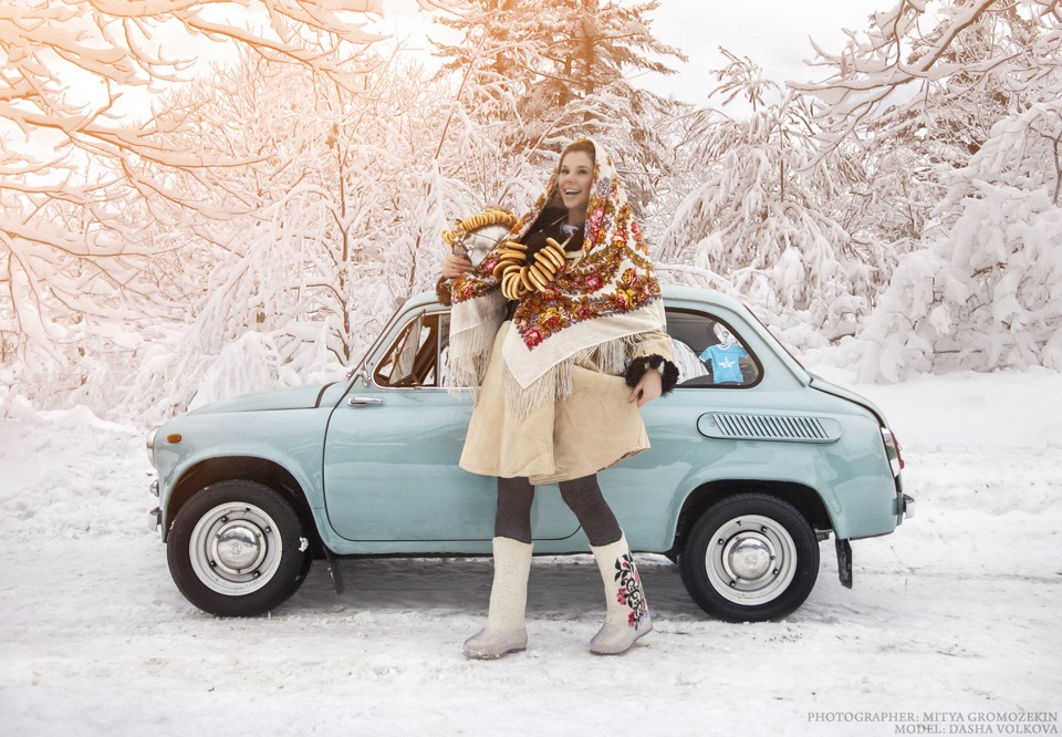 Photo-shoots with Russian beauties and Soviet cars - 12