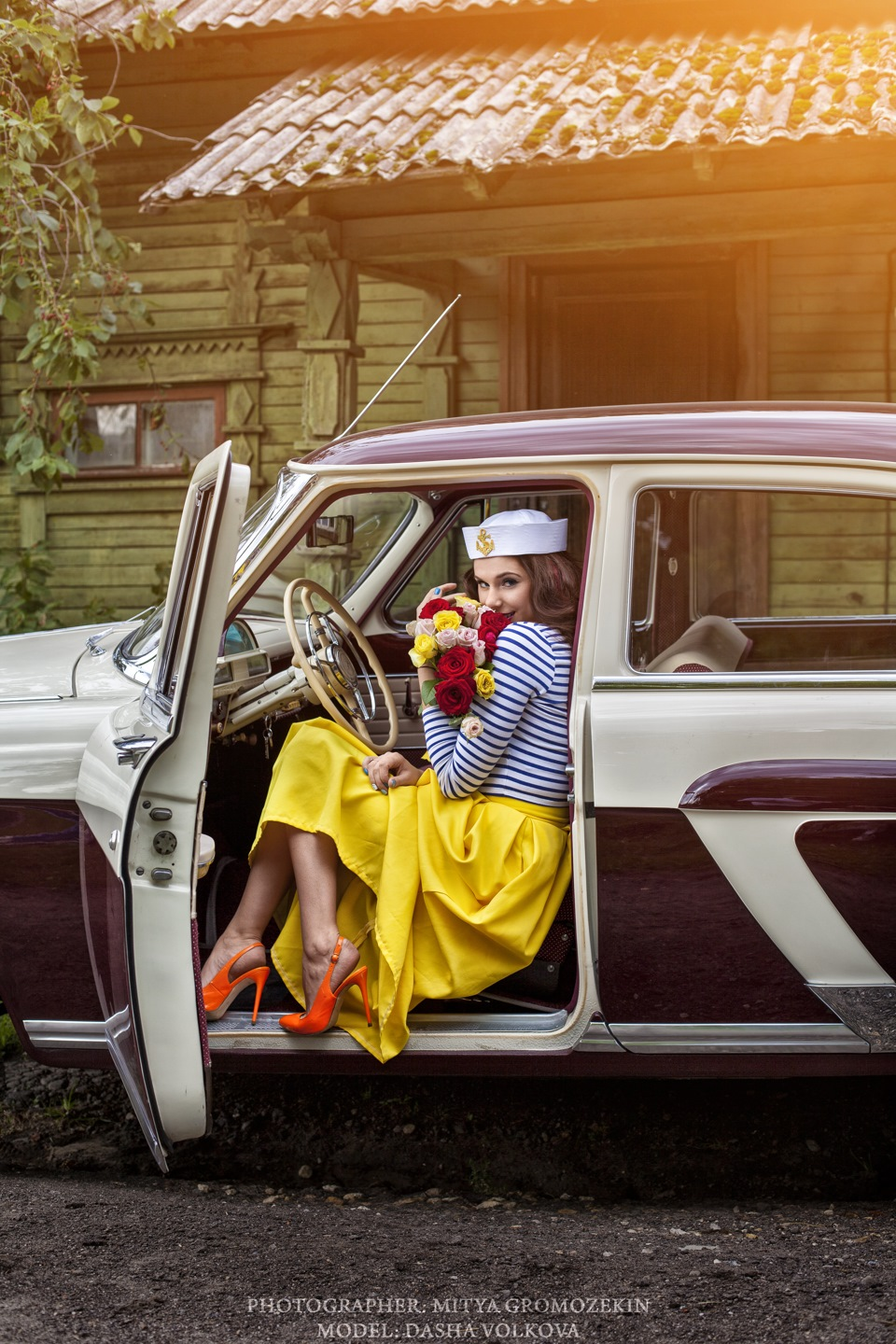 Photo-shoots with Russian beauties and Soviet cars - 17