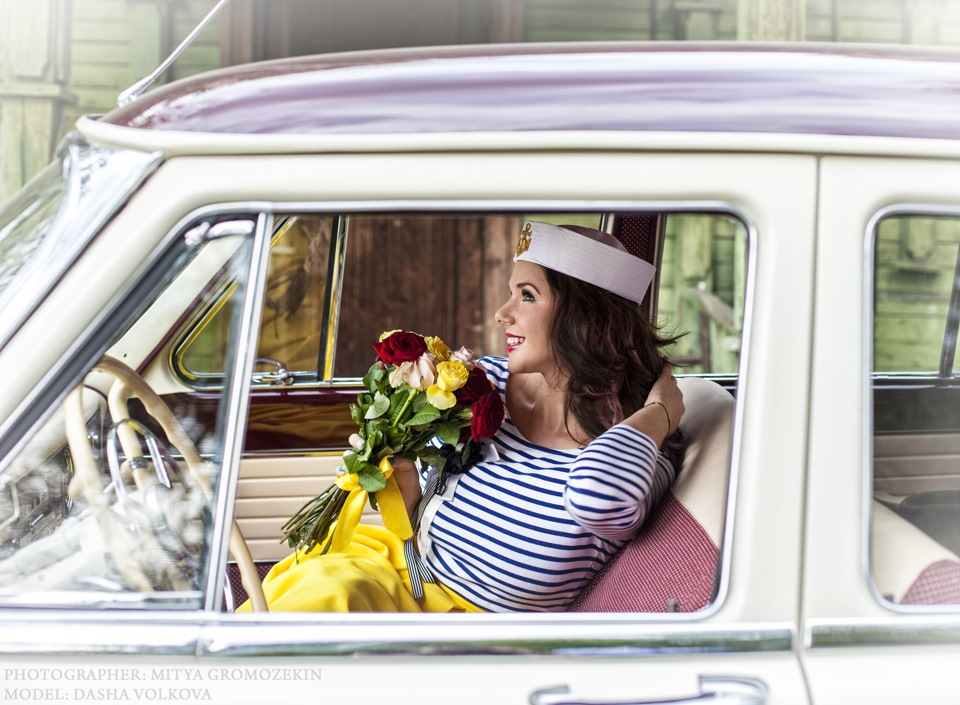 Photo-shoots with Russian beauties and Soviet cars - 18