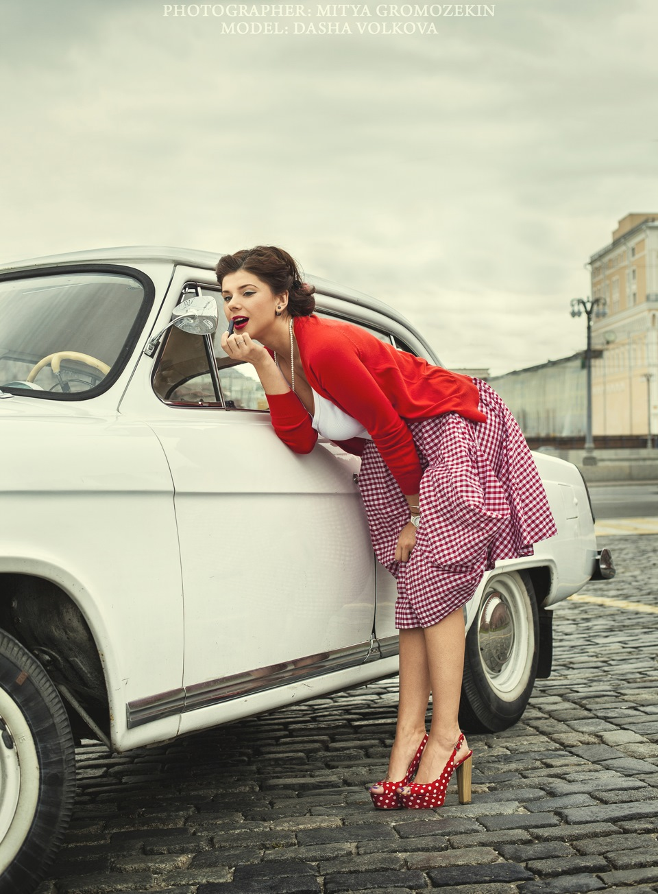 Photo-shoots with Russian beauties and Soviet cars - 24