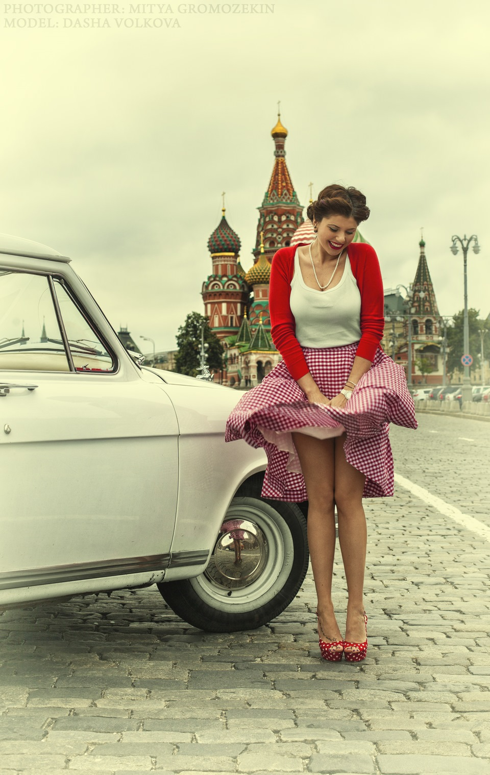Photo-shoots with Russian beauties and Soviet cars - 26