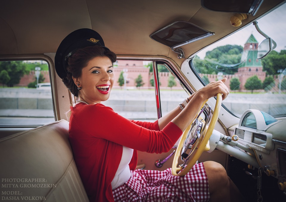 Photo-shoots with Russian beauties and Soviet cars - 28