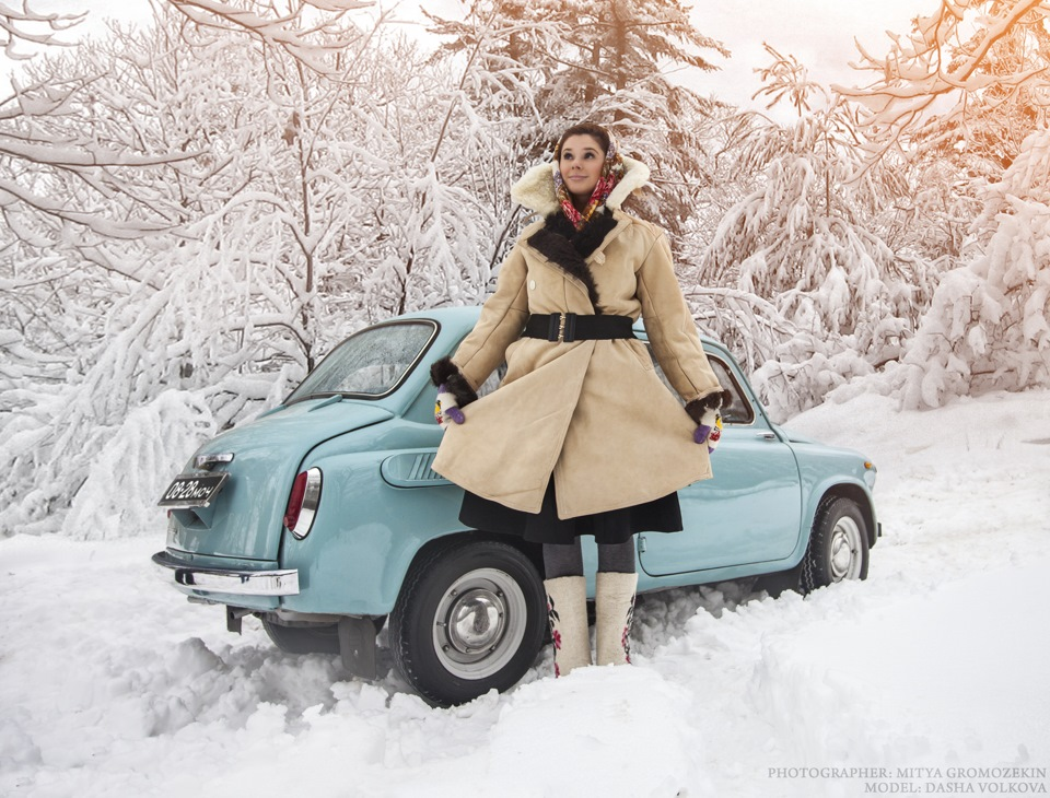 Photo-shoots with Russian beauties and Soviet cars - 3