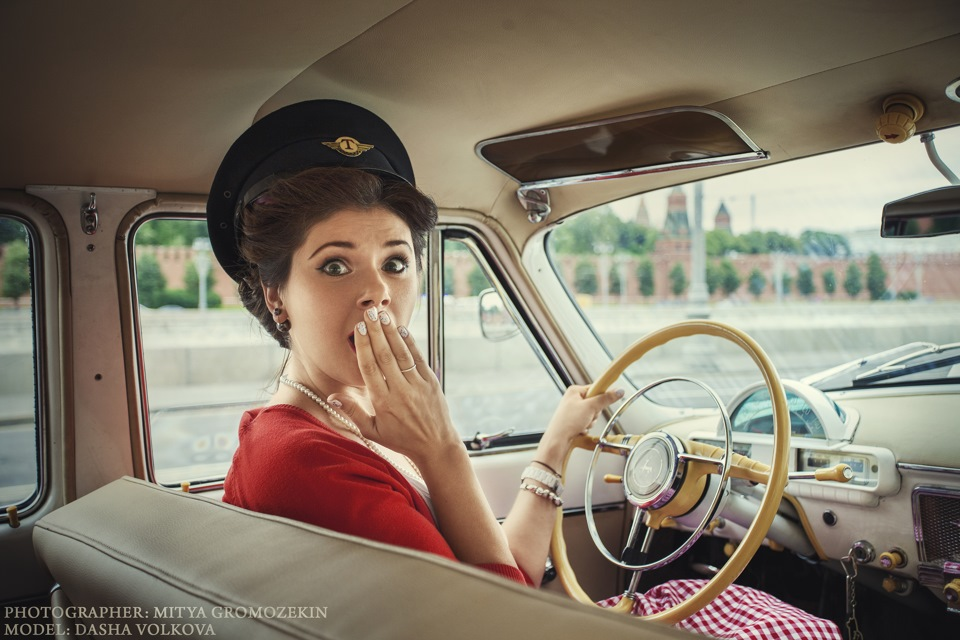 Photo-shoots with Russian beauties and Soviet cars - 30