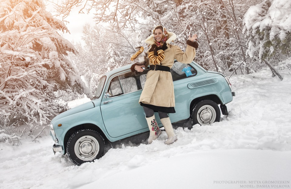 Photo-shoots with Russian beauties and Soviet cars - 5