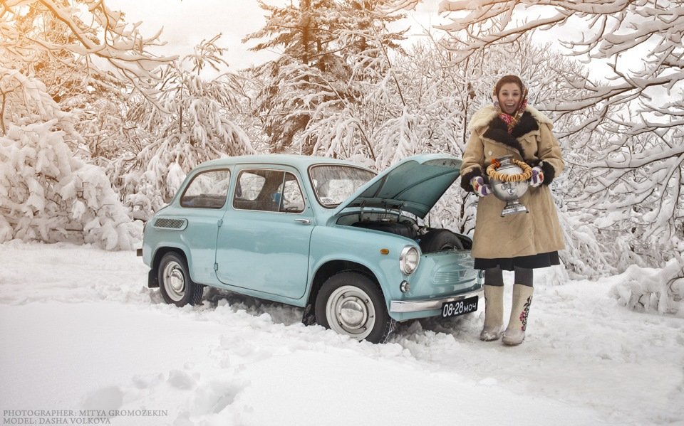 Photo-shoots with Russian beauties and Soviet cars - 6