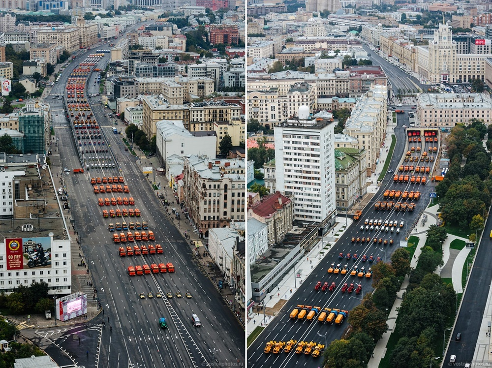 The first parade of city utility and emergency vehicles in Moscow - 13
