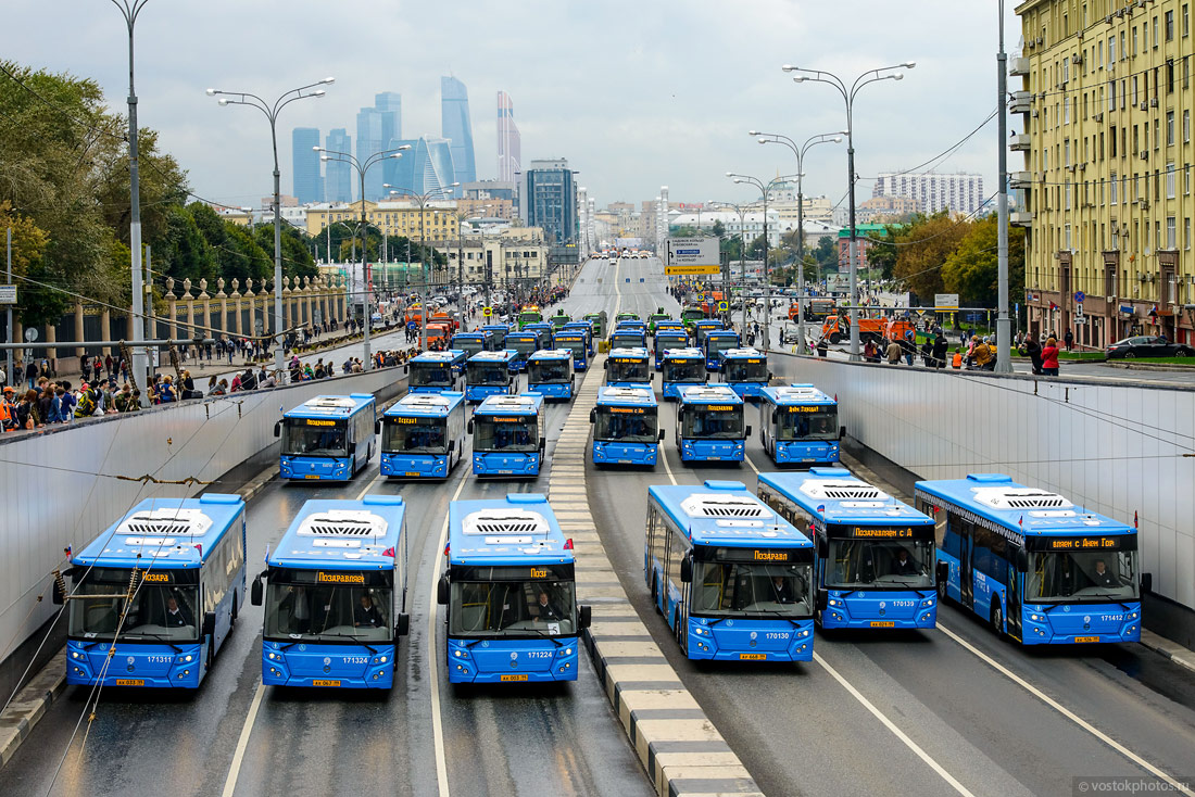 The first parade of city utility and emergency vehicles in Moscow - 9