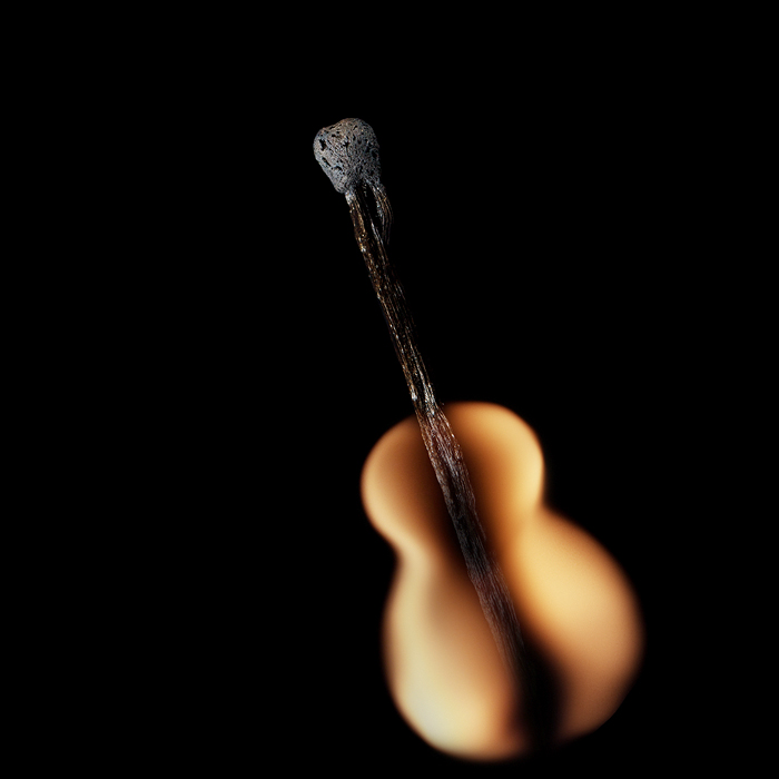 Playing with matches - artwork by Stanislav Aristov - Guitar