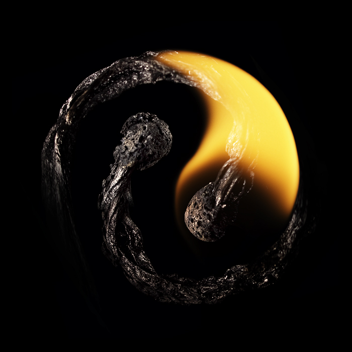 Playing with matches - artwork by Stanislav Aristov - Yin and Yang