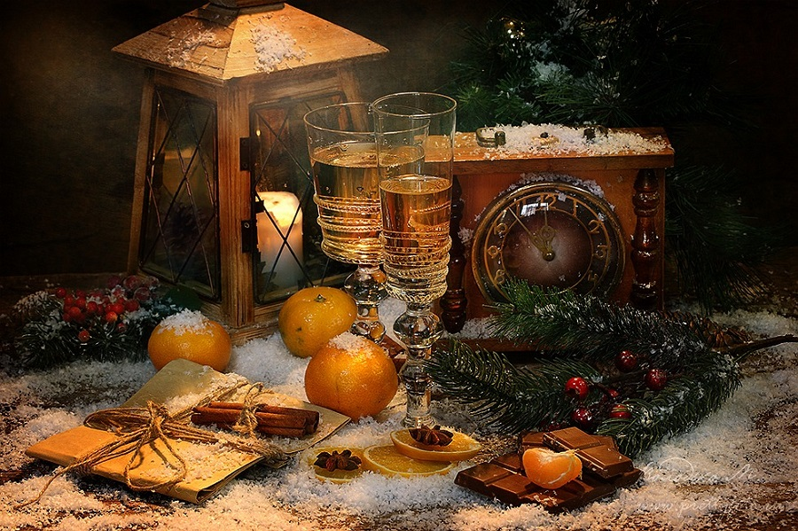Bright new-year still lifes with Russian soul by Marina Volodko - 17